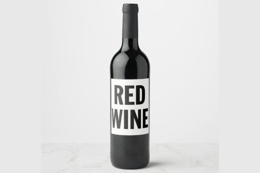 Typographic wine label designs